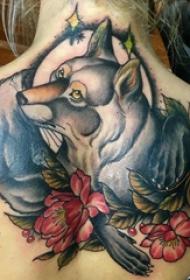 百乐动物纹身 女生背部动物纹身图片