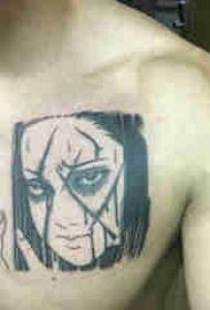 动漫人物纹身 男生胸部动漫人物纹身图片