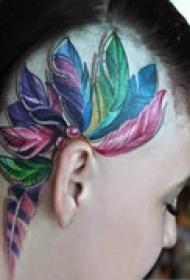 印第安风格脸部纹身