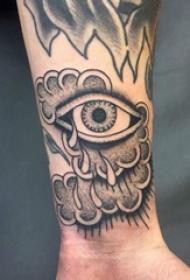 眼睛纹身 男生手腕上眼睛纹身图片