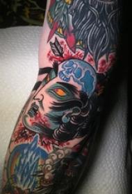 恐怖纹身 多款简单线条纹身素描恐怖纹身图案