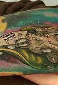 原宿星空纹身 男生手臂上星空纹身图片