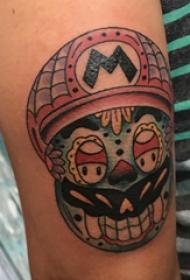 纹身卡通 男生手臂上卡通纹身图片