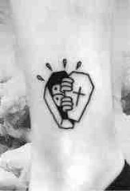 简单线条纹身 多款简单线条纹身黑色纹身图案