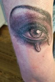 手臂纹身图片 男生手臂上黑色的眼睛纹身图片