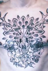 山羊头纹身撒旦 男生胸部羊头纹身图片