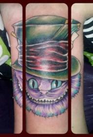 猫纹身 女生手腕上猫纹身图片
