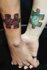 欧美拼图纹身  多款彩绘纹身素描欧美拼图纹身图案