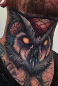 恐怖纹身 多款简单线条纹身彩色恐怖纹身图案