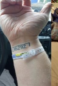 纹身数字 男生手腕上数字纹身图片