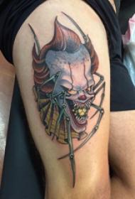 恐怖纹身 女生大腿上恐怖纹身图片