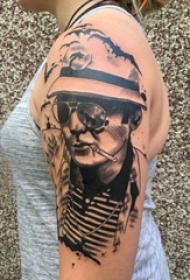 人物纹身图片 女生手臂上人物纹身图片