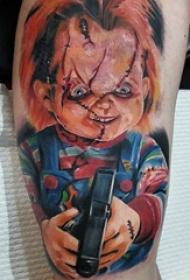 鬼娃娃纹身 多款恐怖纹身素描鬼娃娃纹身图案