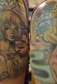纹身动漫 男生手臂上动漫人物纹身图片