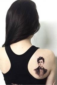 人物肖像纹身 多款素描纹身人物纹身图案