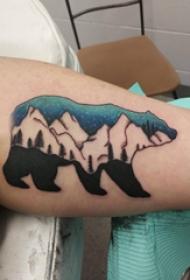 熊纹身 男生手臂上胖熊纹身图片