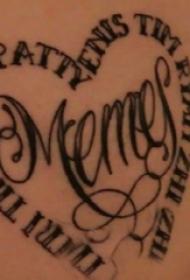 花体英文纹身 女生腰部花体英文纹身图片