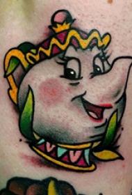 纹身彩色 多款彩绘纹身素描可爱纹身图案