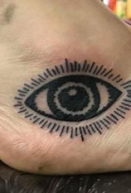 眼睛纹身 女生脚部眼睛纹身图片