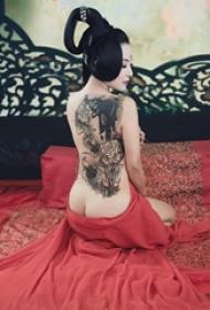 日本传统纹身图案 多款素描纹身彩色日本传统纹身图案