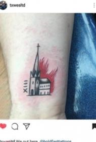 建筑物纹身 女生手腕上建筑物纹身图片