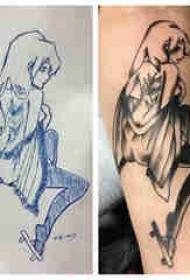 动漫人物的纹身 男生手臂上动漫人物纹身图片