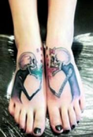 精美可爱腿部纹身
