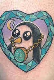 纹身卡通 多款简单线条纹身卡通素描纹身图案