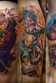 纹身动漫 男生大腿上动漫纹身图片