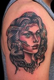 人物肖像纹身 多款简单线条纹身人物肖像纹身图案