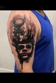 恐怖纹身 男生手臂上恐怖纹身图片
