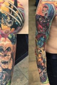 纹身动漫人物 多款彩绘纹身素描动漫人物纹身图案
