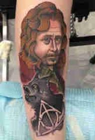 人物肖像纹身 多款简单线条纹身人物图腾素描纹身图案
