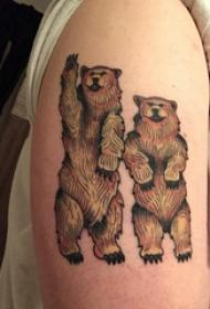 熊纹身 女生手臂上熊纹身图案