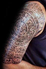 纹身玛雅图腾 多款简单线条纹身黑色玛雅图腾纹身图案