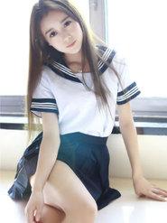 写真女神赵小米Kitty清新校服写真