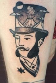 人物纹身图案 女生大腿上人物纹身图案