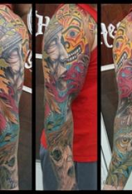 日本传统纹身图案 男生手臂上传统纹身图案