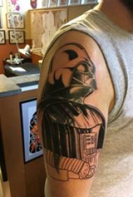 盔甲纹身图案 男生手臂上盔甲纹身图案