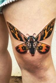 蝴蝶纹身图片 女生大腿上蝴蝶纹身图片