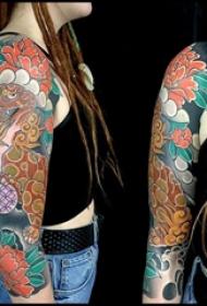 日本纹身 多款简单线条纹身彩色日本传统纹身图案