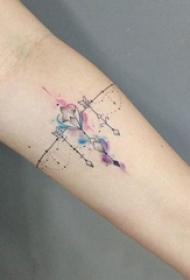 紋身手鏈圖案 多款小清新文藝紋身手鏈紋身圖案