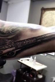 枪纹身 多款素描纹身点刺技巧枪纹身图案