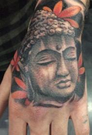 弥勒佛纹身图案 男生手部弥勒佛纹身图案