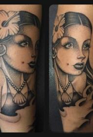 黑灰纹身 多款黑色纹身点刺技巧素描纹身图案
