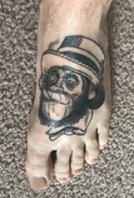 紋身猴子 男生腳部猴子紋身圖片