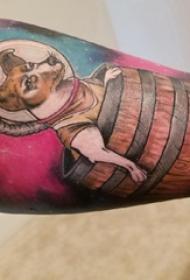 小狗纹身图片 女生手臂上小狗纹身图片
