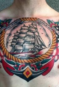 纹身彩色 多款彩绘纹身素描传统纹身图案