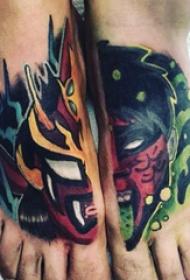 纹身黑色 男生脚部彩绘纹身图片