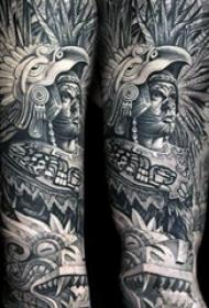 纹身玛雅图腾 多款黑灰纹身点刺技巧玛雅图腾纹身图案
